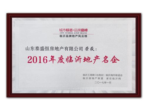2016年度临沂地产名企
